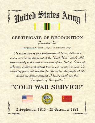 Wall of Honor, Military Certificate, Army Certificate, Military ...