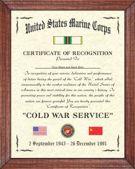 US Navy Cold War Certificate Image