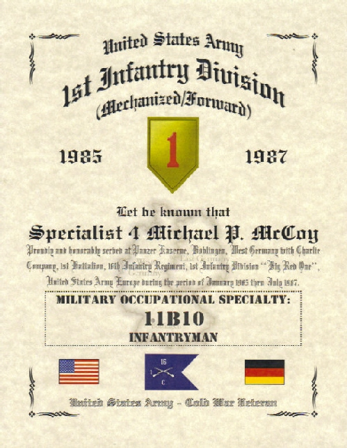 Military Affiliation Certificates, Military Certificate, Military ...